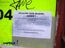 Staline-Sur-Marne, Assez - Une affiche sauvage