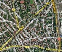 Nogent sur Marne vu par satellite (photo Google Maps)