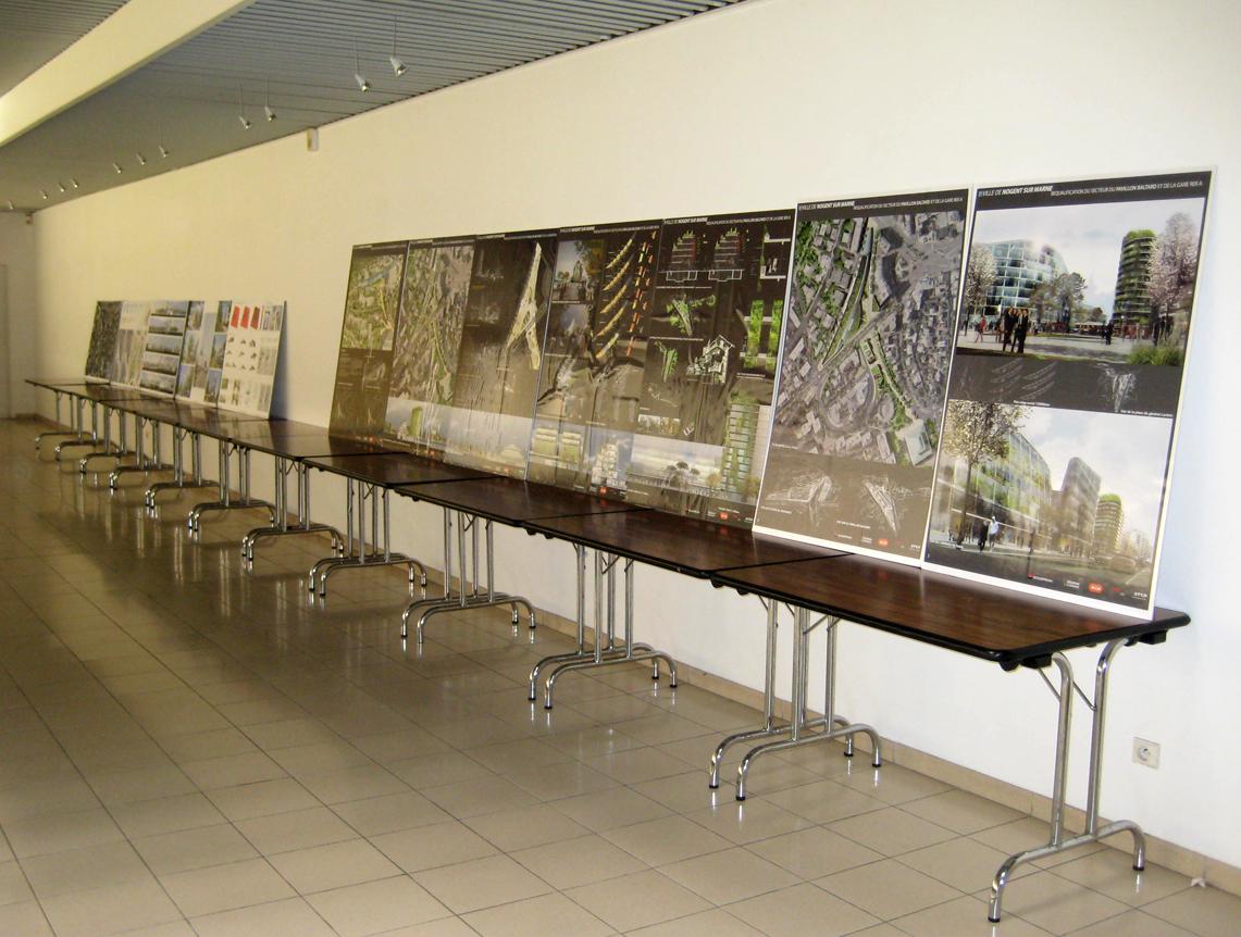 Exposition des projets pôle RER A de Nogent sur Marne à la Scène Watteau Photo 2