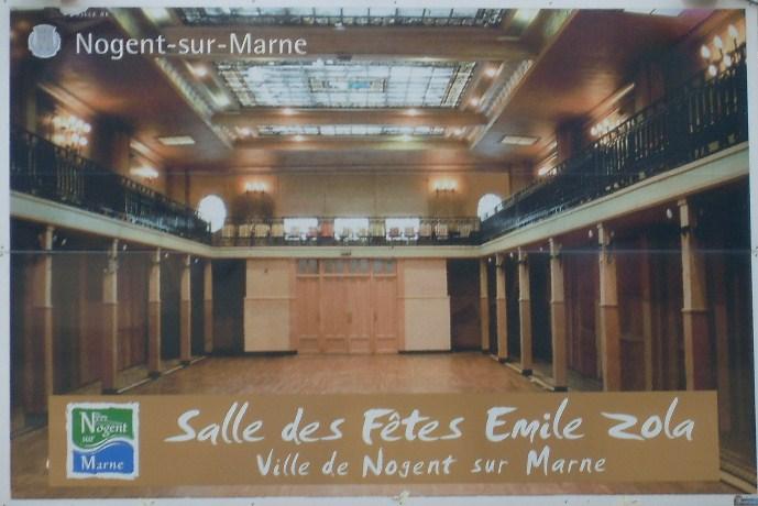 L'intérieur de la Salle des fêtes Emile Zola