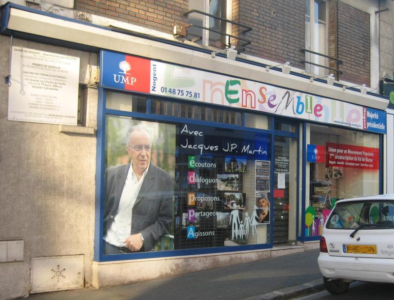 Le local de campagne de Jacques JP Martin appartenant à la SAIEM de Nogent