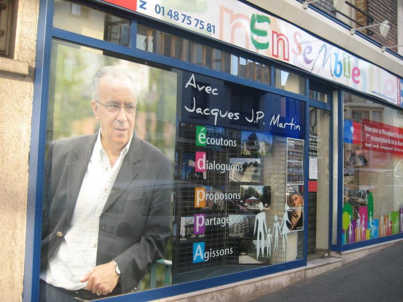 Le local de campagne de Jacques JP Martin à Nogent-Sur-Marne (c)2008 nogent-citoyen.com