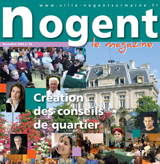 Couverture de Nogent Magazine Novembre 2008