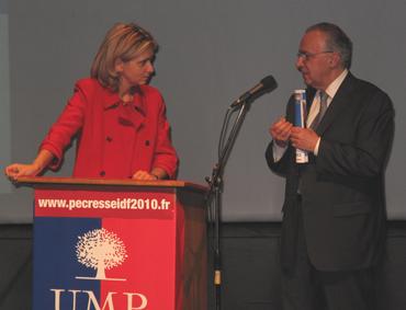 Valérie Pécresse et Jacques J-P Martin Nogent sur Marne 9 février 2009