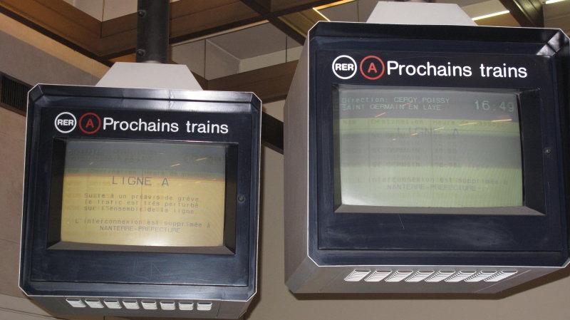 Ecrans jaunes d'information RATP