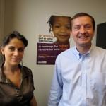 Lisa Gaspar responsable communication et Thomas Scrive directeur de l'association Un enfant par la main