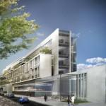 Projet Pole RER A Nogent sur Marne Vu depuis la rue des Marronniers Agence Jean-Paul Viguier