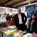 Stand de la mairie au marché de Nogent sur Marne