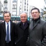 Roger Karoutchi Jacques JP Martin Patrick Devedjian Campagne des municipales 2008 à Nogent sur Marne Photo Nogent Citoyen