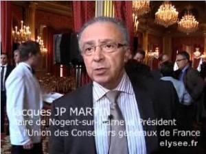 Jacques J.P. Martin à l'Elysée