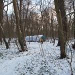 Campement SDF sous la neige Bois de Vincennes Décembre 2009