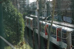 Le RER A entre Fontenay et Nogent