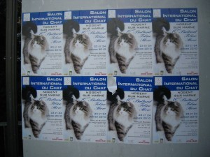 Affiches du Salon du chat à Nogent