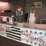 Stand Crêpes et galettes Bio au grand marché de Nogent sur Marne